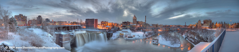 High Falls Rochester at Dusk by Sheridan Vincent
